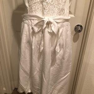36c7c0960bd Ashley Stewart Dresses - BRAIDED HALTER LINEN DRESS- ASHLEY STEWART SIZE 12